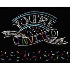 Chalkboard Party Invitations - pk8