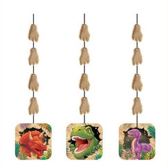 Hanging Dino Blast Cut-outs - pk3