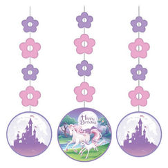 Hanging Unicorn Birthday Cut-outs