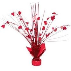 Red Hearts Spray Centrepiece