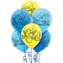 Flat Finding Dory Balloons - pk6