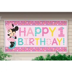 Giant Minnie Mouse 1st Birthday Banner