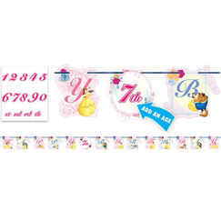 Beauty And The Beast Birthday Letter Banner