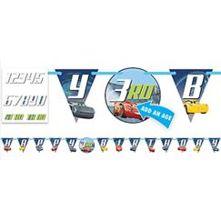 Disney Cars 3 Birthday Banner - Interchangeable ages