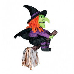 3D Witch on Broomstick Pinata