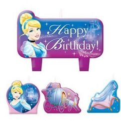 Cinderella Mini Candles - pk4