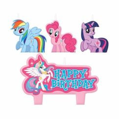 My Little Pony Mini Candles - pk4