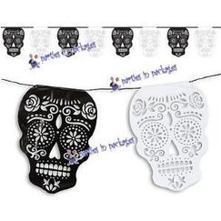Day Of The Dead Skull Flag Banner