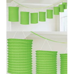 Lime Green Lantern Garland