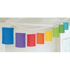 Primary Colours Rainbow Lantern Garland