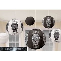 Day of the Dead Skulls Lanterns - pk6