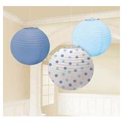 Round Blue and Dots Lanterns - pk3