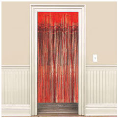 Metallic Red Curtain