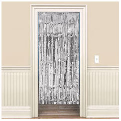 Metallic Silver Curtain