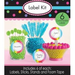 Rainbow Label Kit for Candy Buffet