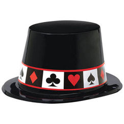 Place Your Bets Plastic Top Hat - Each