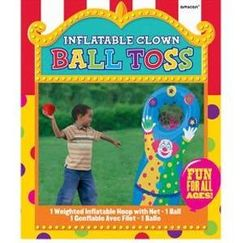 Inflatable Clown Toss Game