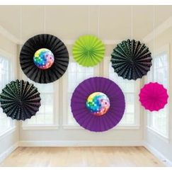 Disco Ball Hanging Fans - pk6