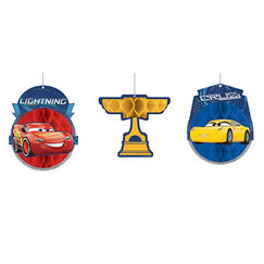 Hanging Disney Cars 3 Decorations - pk3