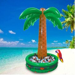 Inflatable Palm Tree & Parrot Cooler
