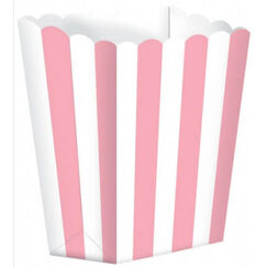 Pink and White Favour Boxes - pk5