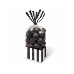 Black and White Stripes Cello Bags - pk10