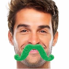 Green Handlebar Moustache - Each