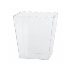 Medium Scalloped Plastic Lolly Container - Each