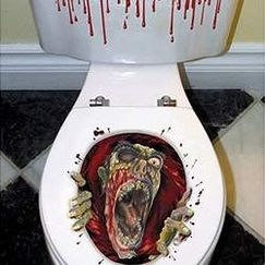 Zombie Toilet Seat Stick On