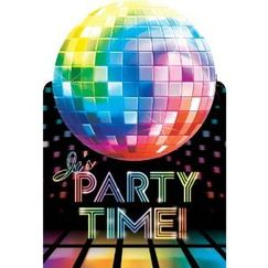 Disco Fever Party Invitations - pk8