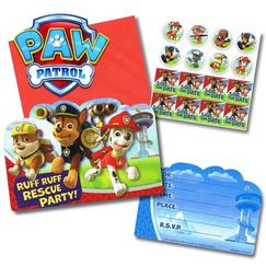 PAW Patrol Party Invitations Kit for 8