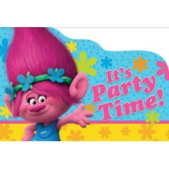 Trolls Party Invitations Kit for 8