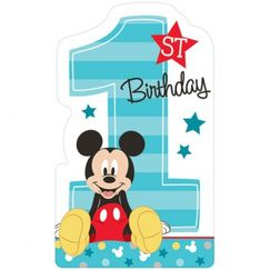 Mickey Mouse 1st Birthday Invitations Kit for 8