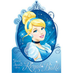 Cinderella Party Invitations Kit