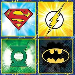 Small Justice League Napkins - pk16