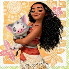 Small Moana Napkins - pk16