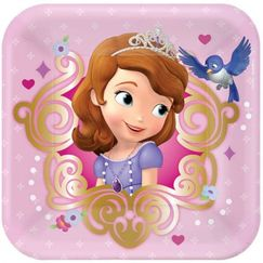 Sofia The First Snack Plates - pk8