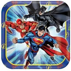 Justice League Snack Plates - pk8