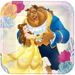 Beauty And The Beast Snack Plates - pk8