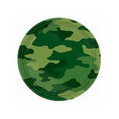Camouflage Snack Plates - pk8