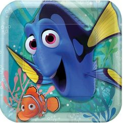 Large Finding Dory Plates - pk8