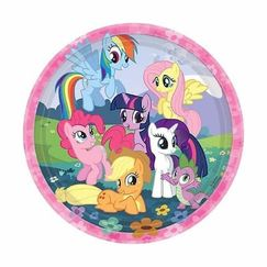 Large My Little Pony Plates - pk8