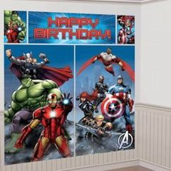 Avengers Birthday Wall Scene Setter Kit