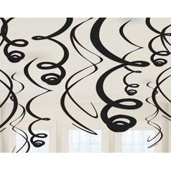 Hanging Black Swirls - pk12