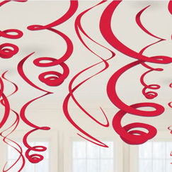 Hanging Red Swirls - pk12