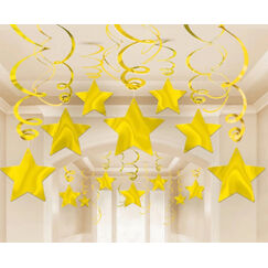 Gold Star Swirls -pk30