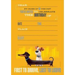 The Secret Life Of Pets Invitations for 8