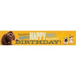 The Secret Life Of Pets Birthday Banner