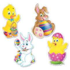 Assorted Easter Cut-outs - pk4