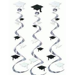 Graduation Cap Whirls